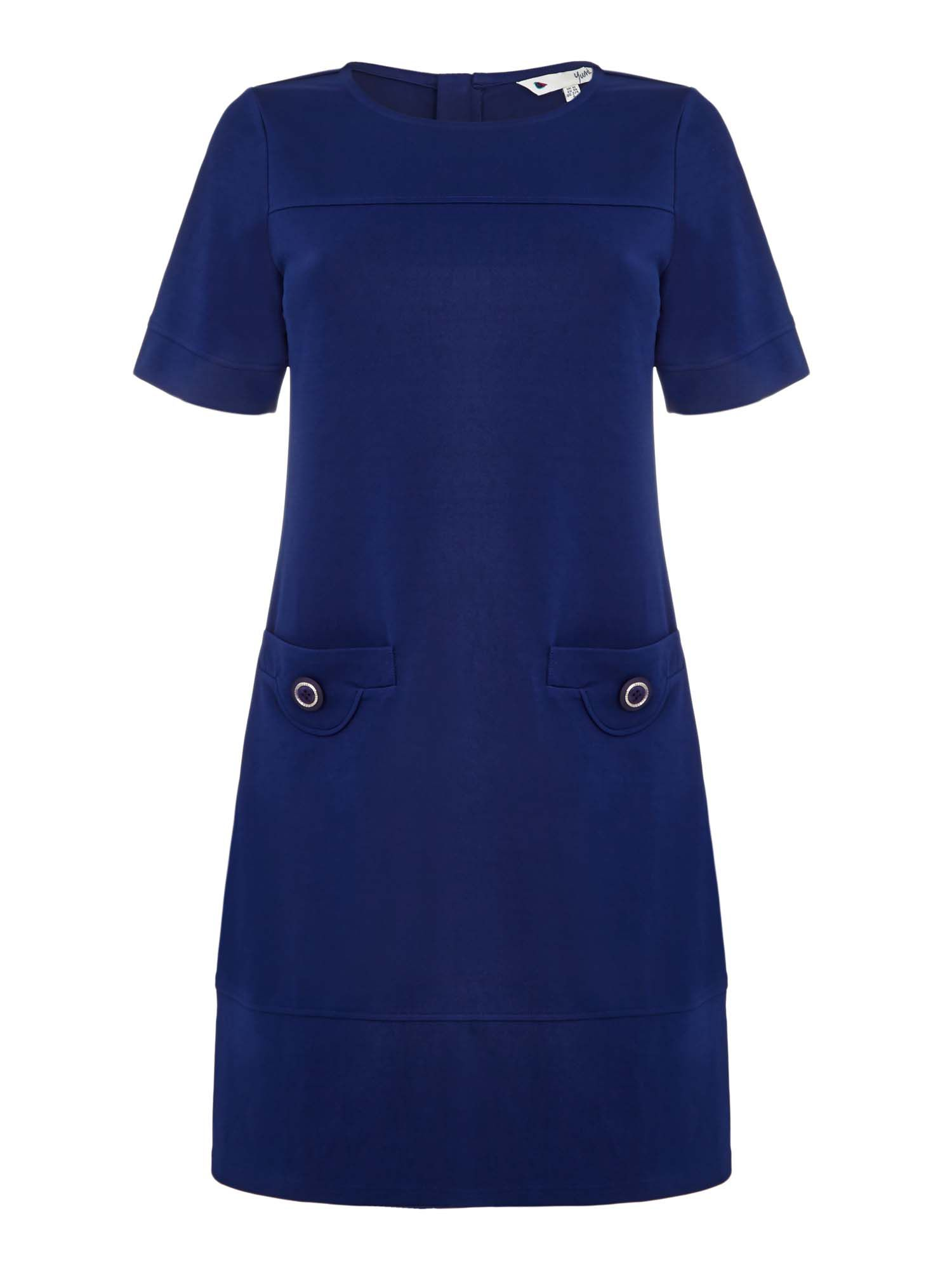 Yumi Pocket Tunic Dress, Blue