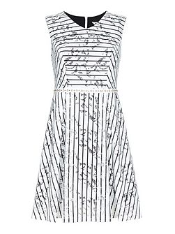 Stripe Lace Shift Dress
