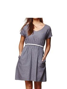 Yumi Chambray Spot Print Dress