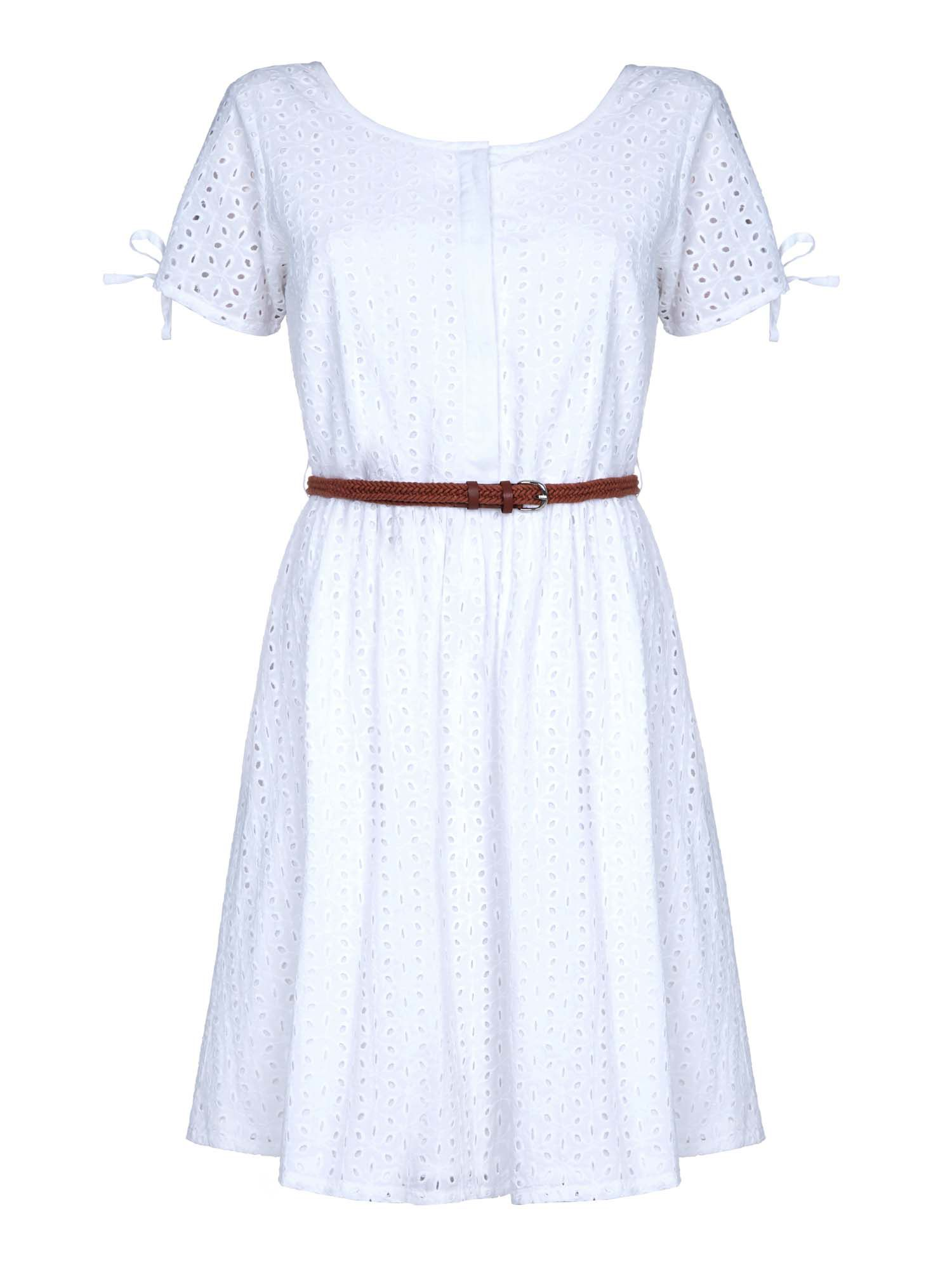Yumi Broderie Anglaise Day Dress, Cream