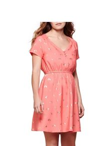 Yumi Golf Foil Flamingo Tea Dress