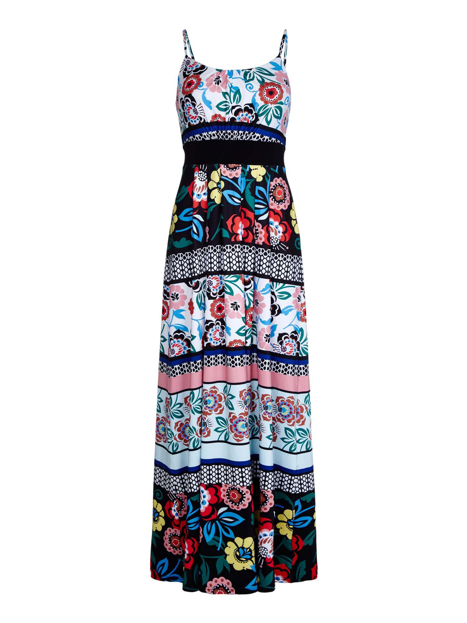 Yumi Floral Jersey Maxi Dress, Multi-Coloured