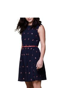 Yumi Poppy Embroidered Dress