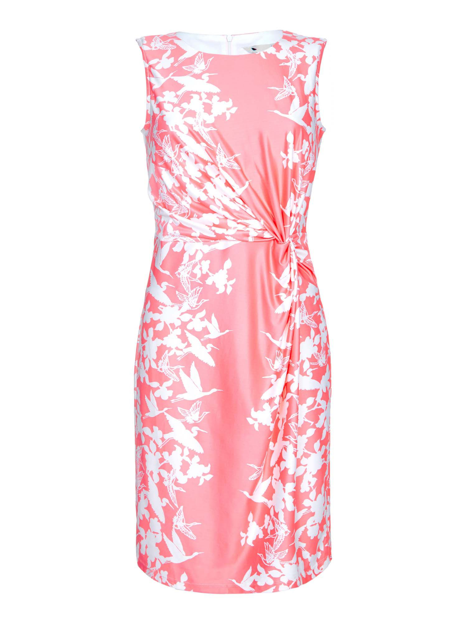 Yumi Floral Gathered Bodycon Dress, Red