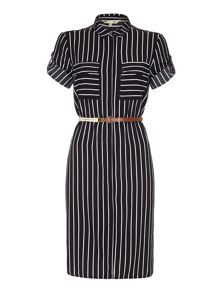 Yumi Stripe Shirt Dress