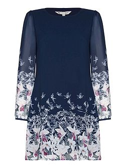 Floral Bird Tunic Dress