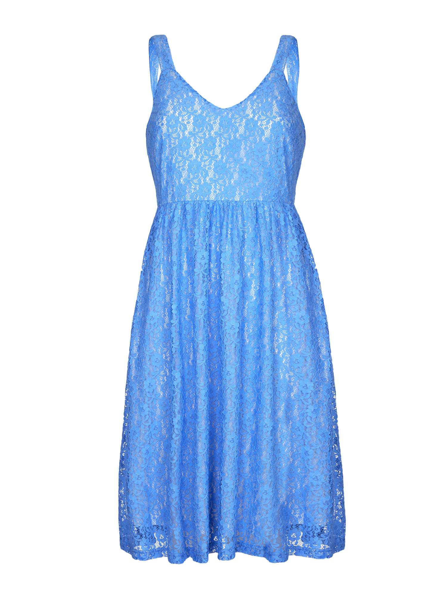 Yumi Strappy Lace Occasion Dress, Blue