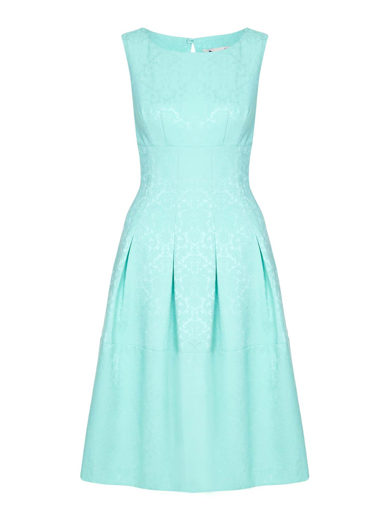 Yumi Floral Lace Panel Dress, Green