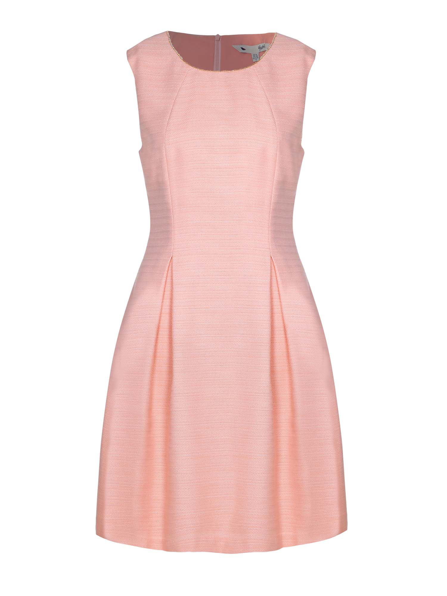 Yumi Embellished Jacquard Shift Dress, Pink