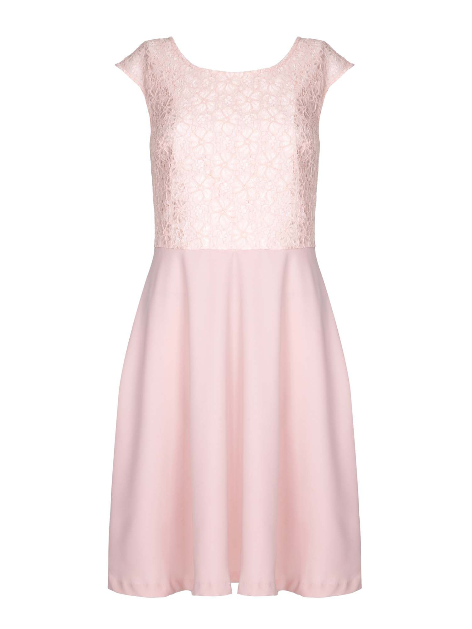 Yumi Floral Lace Panel Dress, Pink