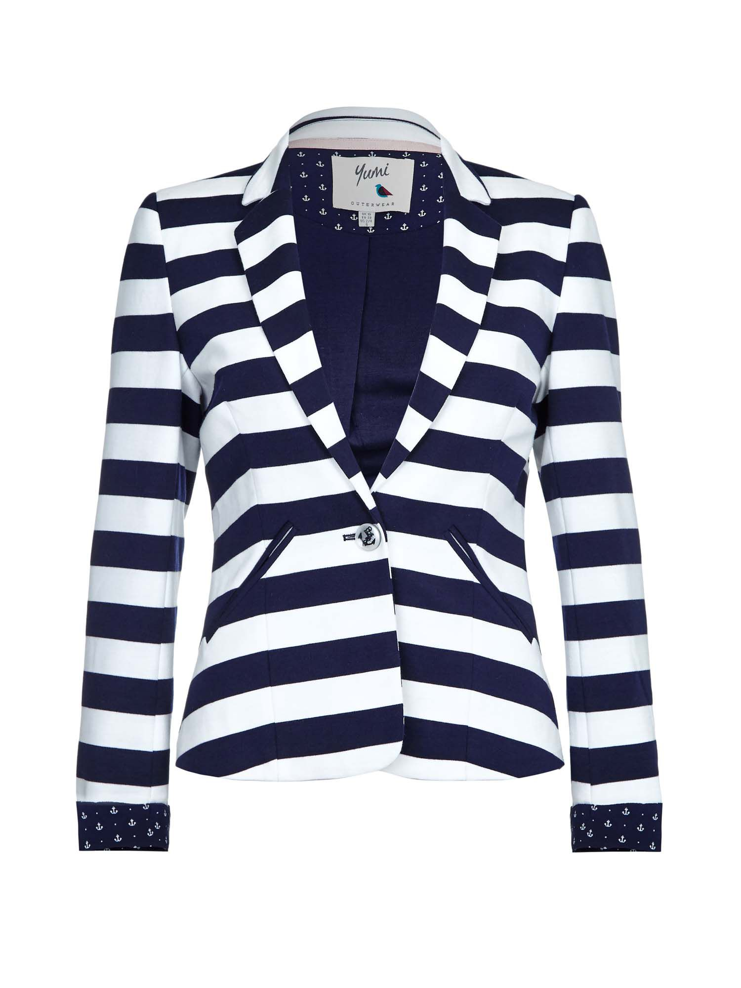 Yumi Nautical Stripe Blazer, Blue