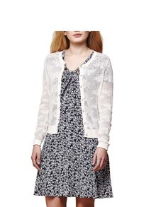 Yumi Butterfly Pointelle Knit Cardigan