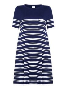 Yumi Knit Striped Swing Dress