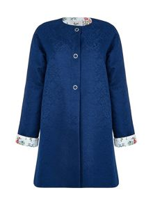 Yumi Botanical Lace Jacquard Coat