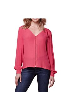 Yumi Zip Front Blouse