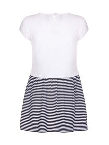 Yumi Girls Nautical Stripe Rope Dress