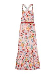 Yumi Girls Tropical Strappy Maxi Dress