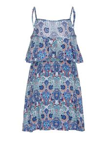 Yumi Girls Paisley Swirl Print Dress