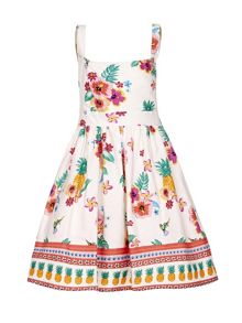 Yumi Girls Floral Pineapple Sun Dress