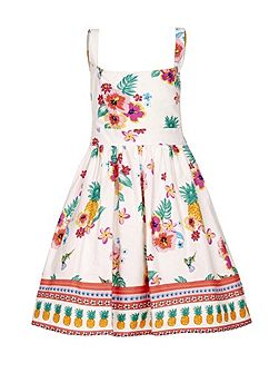 Floral Pineapple Sun Dress