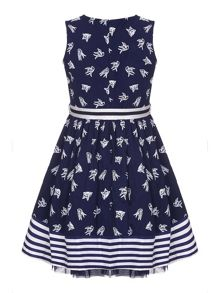 Yumi Girls Swallow Sleeveless Skater Dress