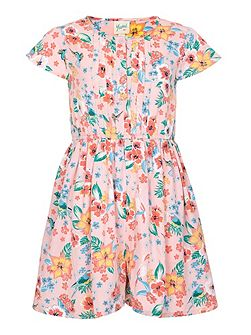 Tropical Floral Short Sleeve Playsuit