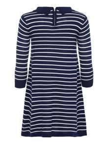Yumi Girls Stripe Collared Tunic