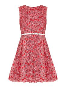Yumi Girls Cherry Lace Dress