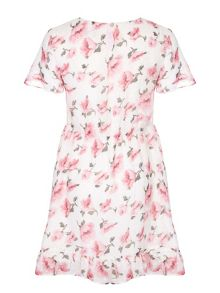 Yumi Girls Floral Frill Dress