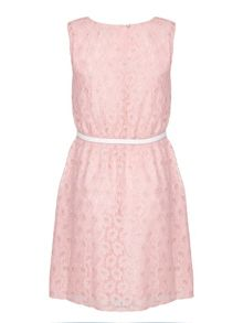 Yumi Girls Metallic Daisy Lace Dress