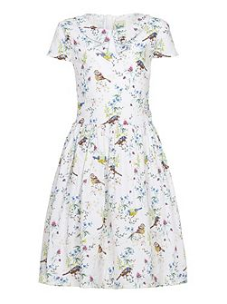 Bird Tea Dress