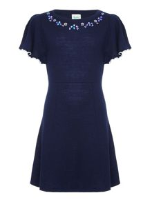 Yumi Girls Embellished Knit Dress