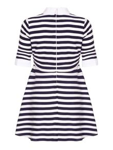Yumi Girls Nautical Stripe Collar Dress