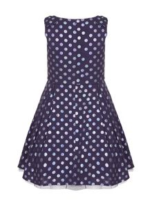 Yumi Girls Polka Dot Party Dress