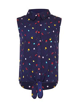 Scattered Fruit Tie Top
