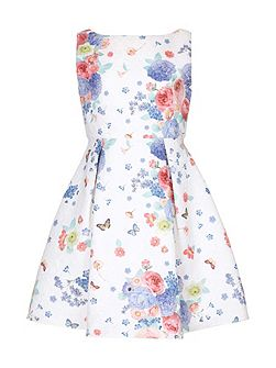 Floral Butterfly Party Dress