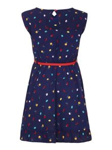 Yumi Girls Fruity Belted Dress