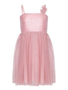 Yumi Girls Sequin Corsage Occasion Dress