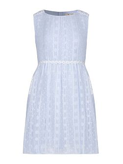 Daisy Trim Lurex Dress