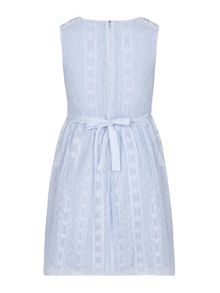 Yumi Girls Daisy Trim Lurex Dress