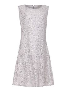 Yumi Girls Drop Waist Lace Dress