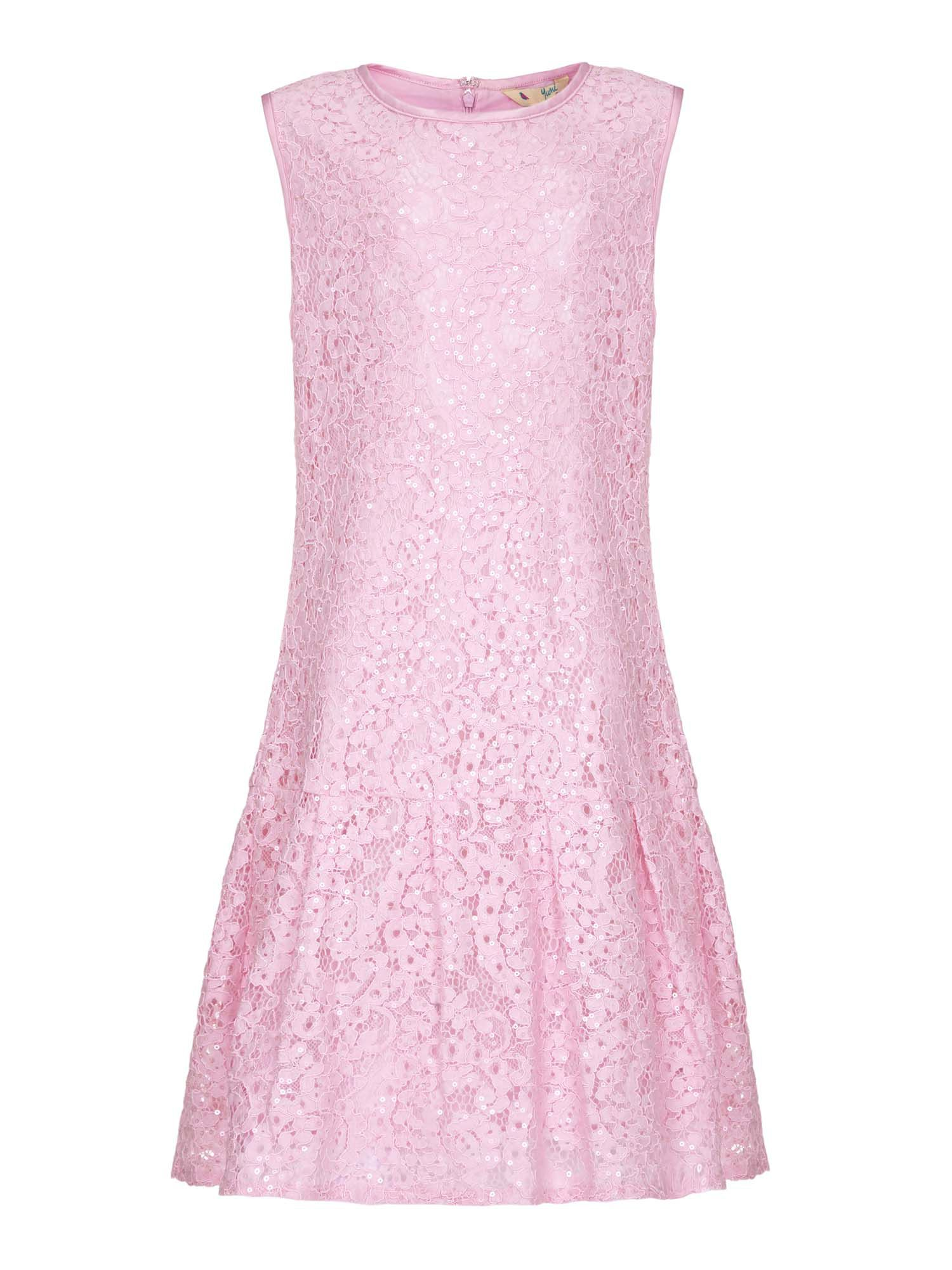 1920s Children Fashions: Girls, Boys, Baby Costumes Yumi Girls Drop Waist Lace Dress Pink £39.00 AT vintagedancer.com