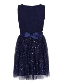 Yumi Girls Embellished Lace Party Dress