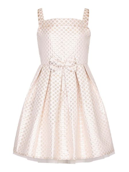 Yumi Girls Spot Bow Party Dress