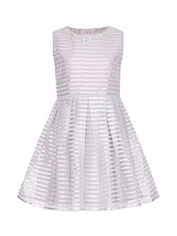 Embellished Stripe Party Dress