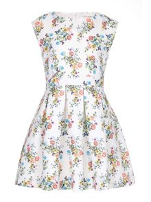 Yumi Girls Floral Butterfly Skater Dress