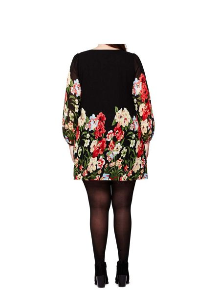 Yumi Curves Bold Floral Tunic Dress
