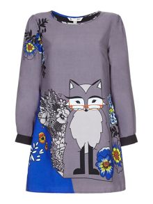 Yumi Floral Wolf Tunic Dress