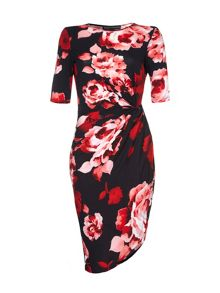 Yumi Floral Gathered Dress