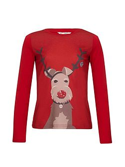 Embellished Reindeer Top